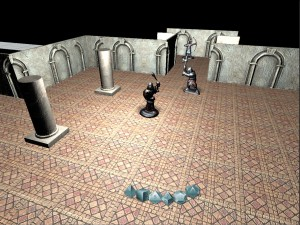 The in-game map with columns. (Click to enlarge.)